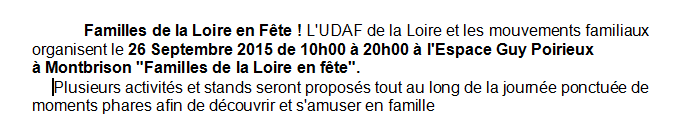 Capture udaf texte